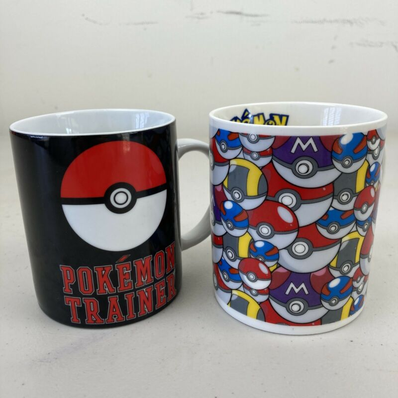 Pokemon Coffee Mugs x2 VGC Free Postage