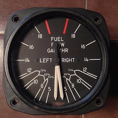 United Fuel Pressure PM-44-11 Dual Fuel Flow Gauge, pn 6062