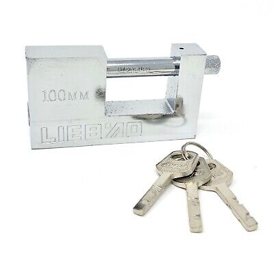 Heavy Duty Padlock Or Chain Lock 100mm Shipping Container Garage Warehouse 3 Key