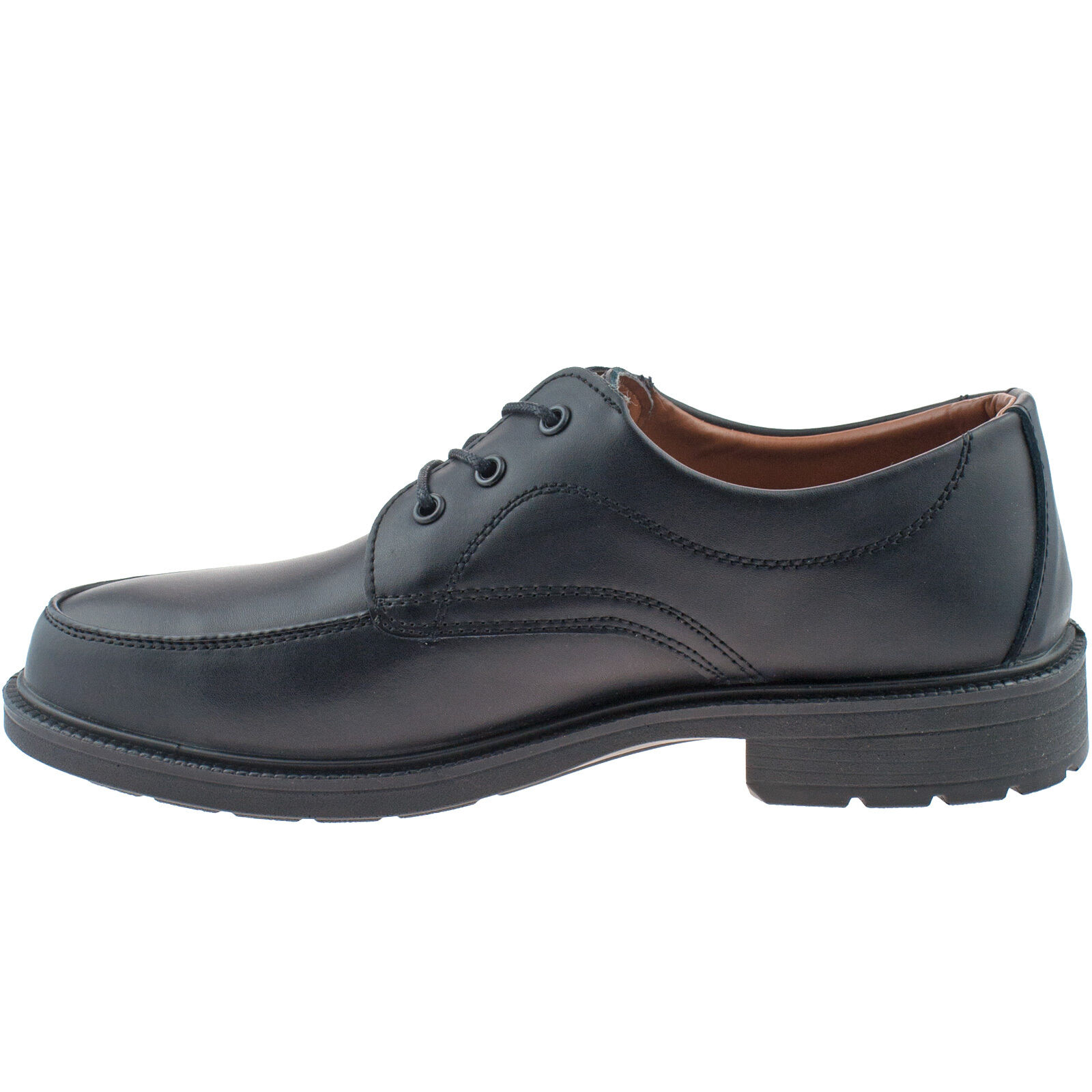 Mens Grafters Safety Smart Work Shoes Black Leather Slip-on Size 6-13 UK