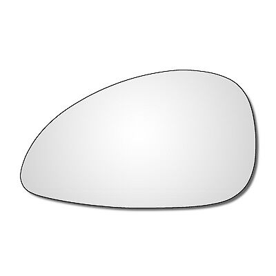 Left Passenger side Wing door mirror glass for Citroen C4 2004-2009