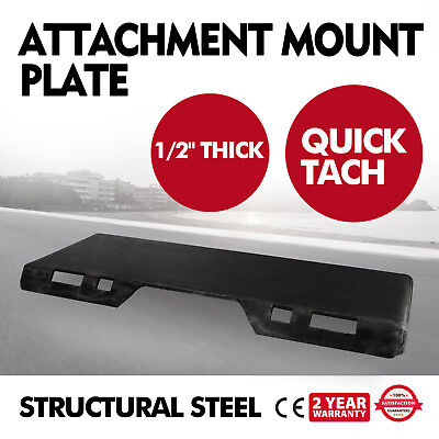 12 Quick Tach Attachment Mount Plate Adapter 123 Lbs Skid Steer
