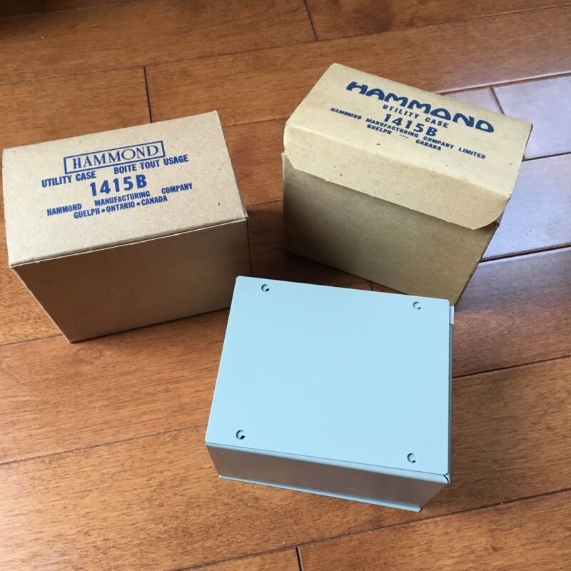 Lot Of 2 Hammond 1415B Electrical Wiring Utility Cases Enclosure New In Box