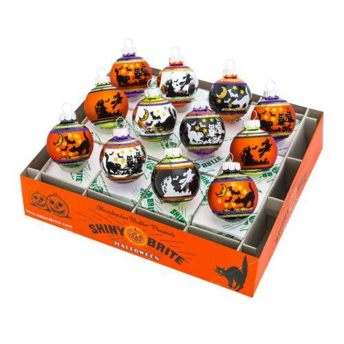 Christopher Radko Ornaments - Halloween Signature Flocked Round 12 Count 4026970