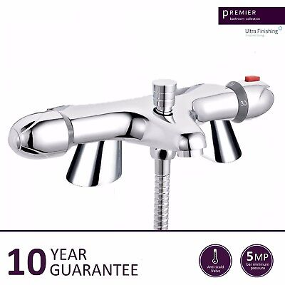 ULTRA Modern Bathroom Thermostatic Deck Mounted Bath Shower Bar Mixer Valve Tap