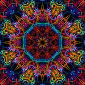 Kaleidoscope Psychedelic Visual Effect DVD Autism Special needs Children DJ 59a