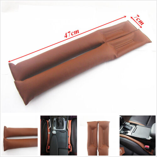 Univesal Brown Car Seats Leakproof Stop Gap Filler Padding Pad Seam Holster 2pcs