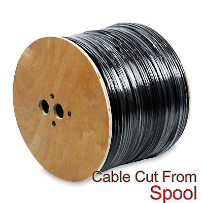 Outdoor Direct Burial UV Rated CCTV Siamese Combo Cable RG59 Coax ETL 100FT