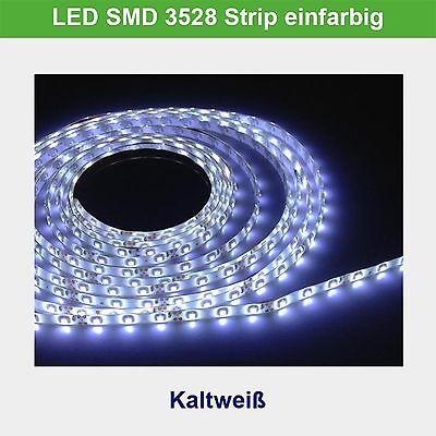 LED Strip Streifen SMD 3528 Kaltweiß 5M 60LEDs/M Lichtkette IP65 Band DEKO