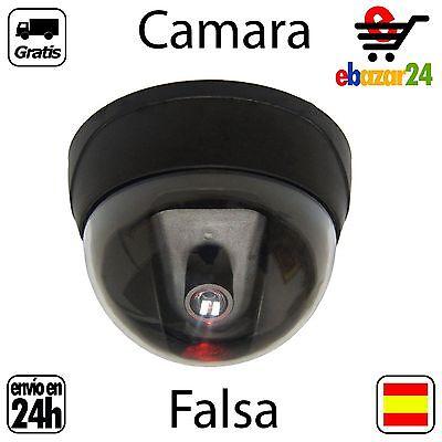 Camara de Seguridad Falsa con LED rojo Vigilancia Video Casa ladrones grabar *En