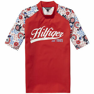 Tommy-Hilfiger-camiseta-UV-Flower-salida-de-bano-Talla-80-86-92-98-104-110-116