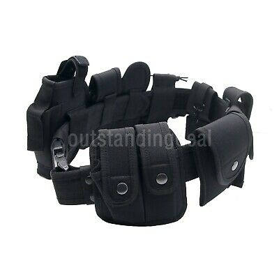 Police Duty Belt Security Guard Modular Enforcement Equipment Tactical Belt 600d
