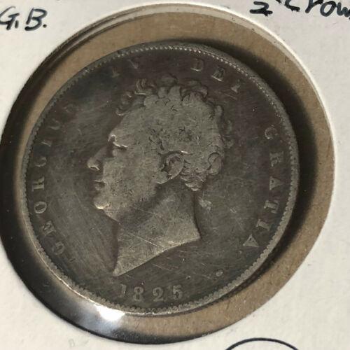 1825 Great Britain Half 1/2 Crown Silver Coin