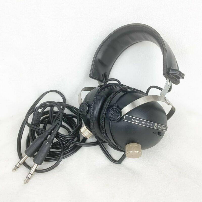 Vintage Pioneer SE-Q404 Quadraphonic Headphones 2 or 4 Channel