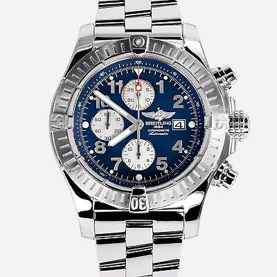 Breitling Super Avenger, A13370, 48.00mm Black Mother Of Pearl,Crystal Sapphire