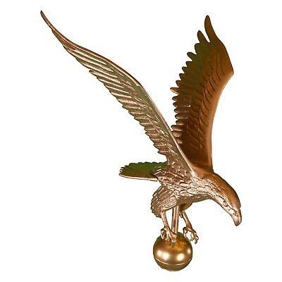 Eagle Flagpole Finial Gold & Bronze Patriot American Symbol Flag Pole Top Decor