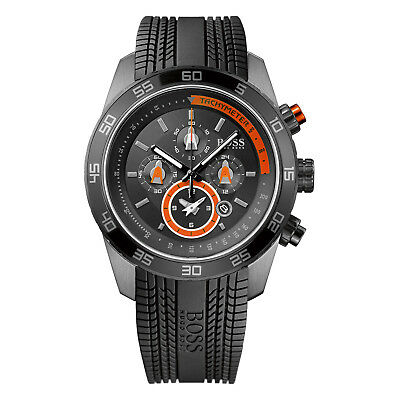HUGO BOSS Uhr 1512662 Motorsport Herren Chronograph Kautschuk Schwarz Armbanduhr