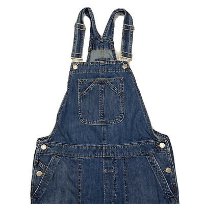 Vintage Overalls & Jumpsuits Gap Crop Slouch Bib Overalls Denim Blue Jean Womens Size Small S (Inseam - 26) $39.99 AT vintagedancer.com
