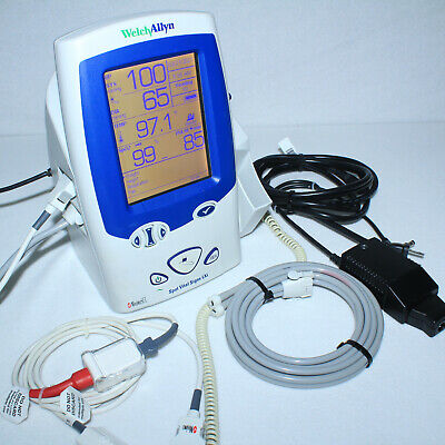 Stunning Welch Allyn 45mt0 Spot Lxi Vital Signs Monitor W Oximeter Accessories