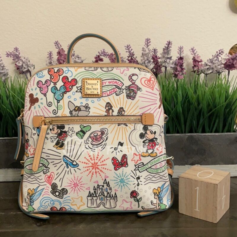 2021 Disney Dooney and Bourke Sketch Backpack Actual Placement #1