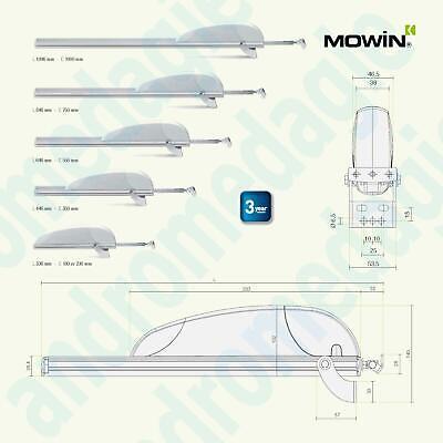 AIRWIN 650N 24V CARRERA=550MM Motor de rack para claraboyas casetas domos