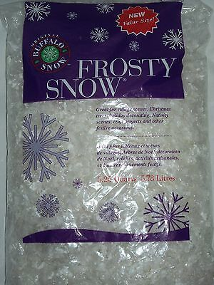 Buffalo Snow Frosty Large Flakes Christmas Village Craft Artificial Fake 5.25 Qt