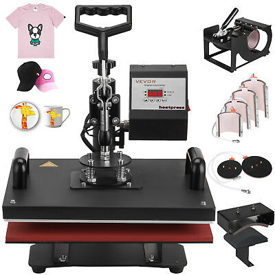 9 In 1 Digital Heat Press Machine Sublimation For T-shirtmugplate Hat Printer