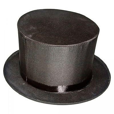Collapsible Top Hat Magic Magician Performer Trick Cap Adult Black - Magic Top Hat