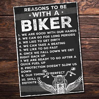 MotorBike Biker Son Dad Grandad Gifts Hanging Plaque Novelty Man Cave Shed Sign