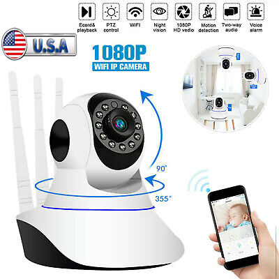 1080P WiFi IP Camera Wireless Home Security Baby Pet Monitor CAM Night Vision US