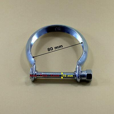 Auspuffschelle , Montage - Schelle für Auspuffanlagen , Abgasanlagen M10 Ø 80 mm
