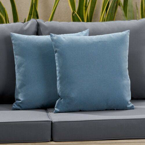 Karalynn Outdoor Modern Square Water Resistant Fabric Pillow (Set of 2) Home & Garden