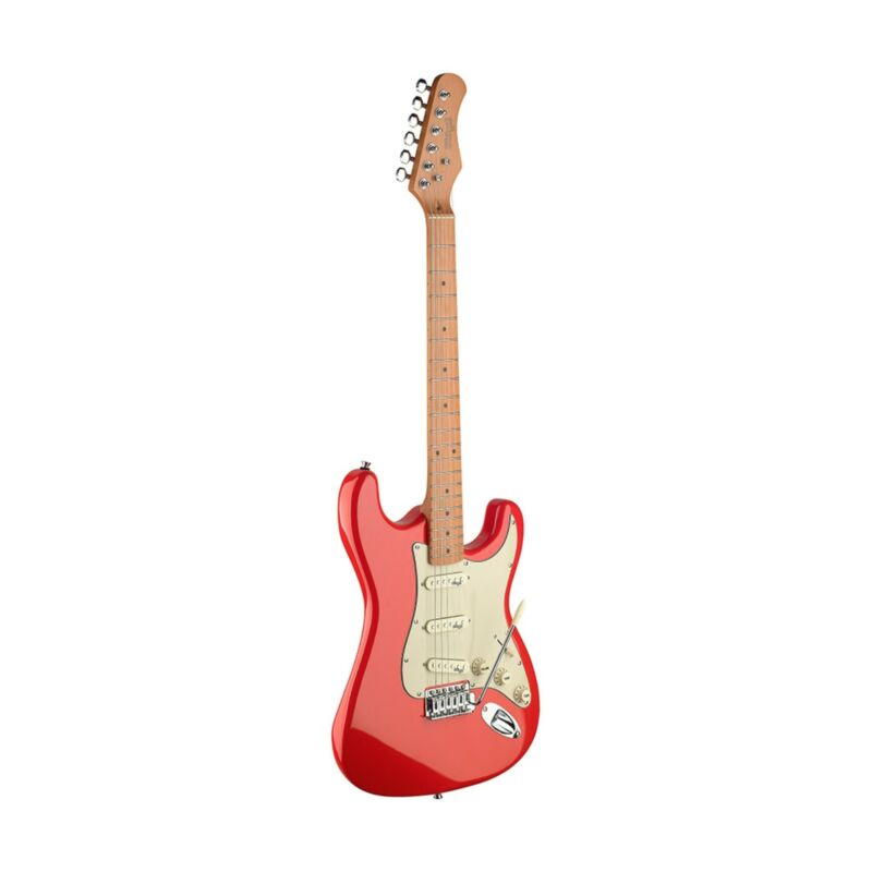 Stagg SES50M-FRD Electric Guitar, Alder Body, Fiesta Red