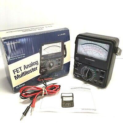 Micronta 22-220a Radio Shack 22-range Fet Analog Multitester 1000 Volts 10 Amps