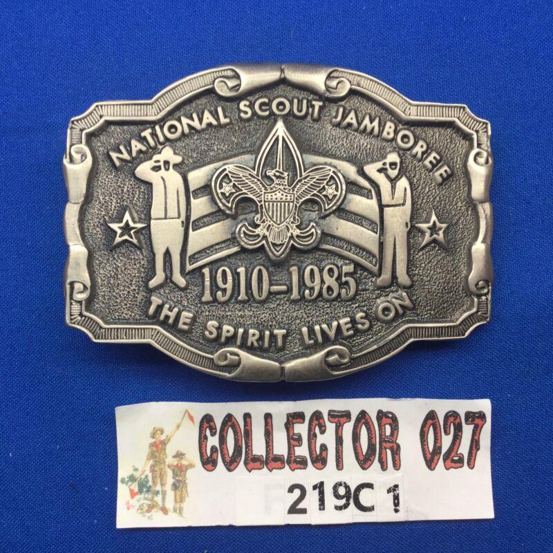 Boy Scout 1985 National Scout Jamboree Texas Western Belt Buckle