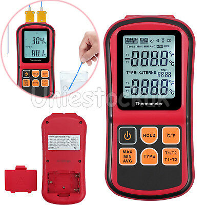 Dual Channel Backlight Digital Thermometer Ktype Thermocouple Temperature Tester