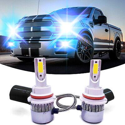 9007 HB5 CREE LED Headlight Bulbs Kit High & Low Beam 55W 8000LM 8000k Ice Blue