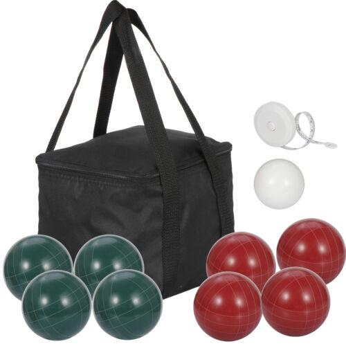 100mm Bocce Ball Set with 8 Premium Resin Bocce Balls 1 Pallino Carry Bag Backyard Games