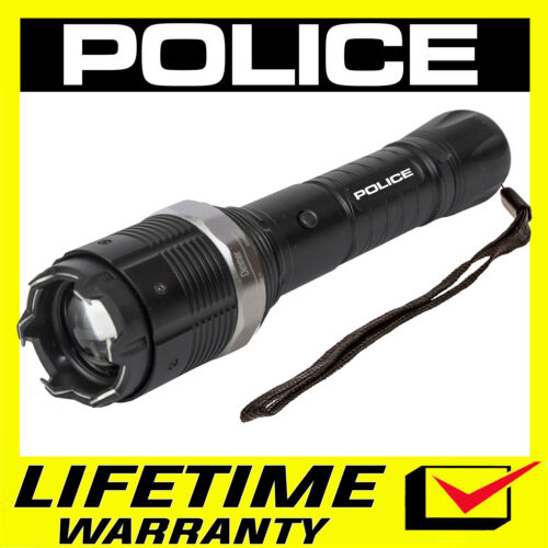 POLICE Stun Gun Metal 8810 560 BV Heavy Duty Rechargeable LED Flashlight