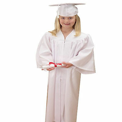 Children's White Graduation Outfit Cap and Gown Outfit Costume Set Kids Unisex  - Kids Graduation