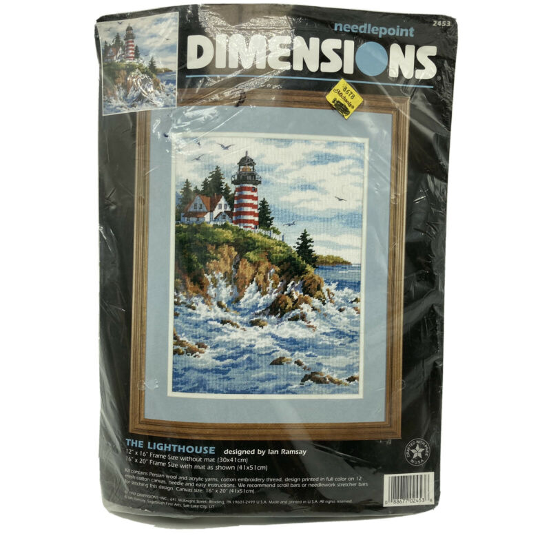 Dimensions Needlepoint Kit The Lighthouse Vintage 1997 NOS