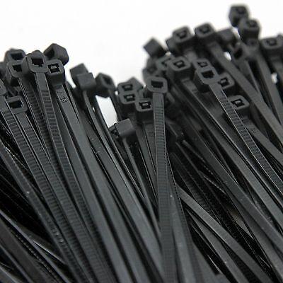 """1000 Heavy Duty 8"""" 40 Pound Cable Zip Tie Down Strap Wire Nylon Wrap Black"""