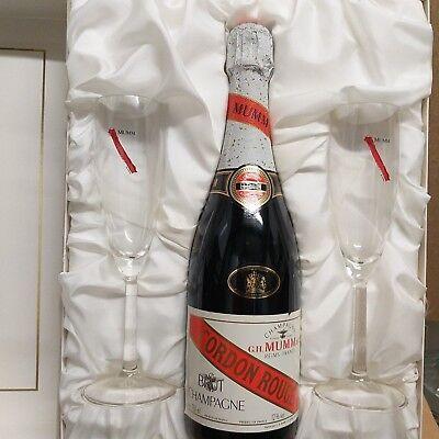 G.H.Mumm & Cie. Gordon Rouge Champagner im Set mit 2 Originalgläsern EDEL