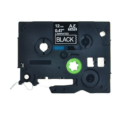 1pk 12mm Label Tape For Brother P-touch Pt-d400 Ptd600 Tz Tze-335 White On Black