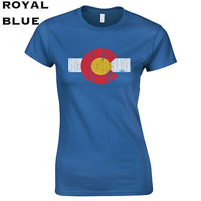 451 Colorado Flag Womens T Shirt Funny Denver Rocky Mountain College Boulder Hip