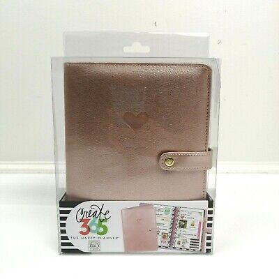 The Happy Planner Create 365 Mini Deluxe Cover Rose Gold Heart Mambi Agenda