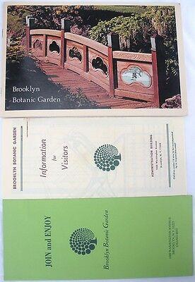 Vintage Brooklyn Botanic Garden Guidebook Info Pamphlet