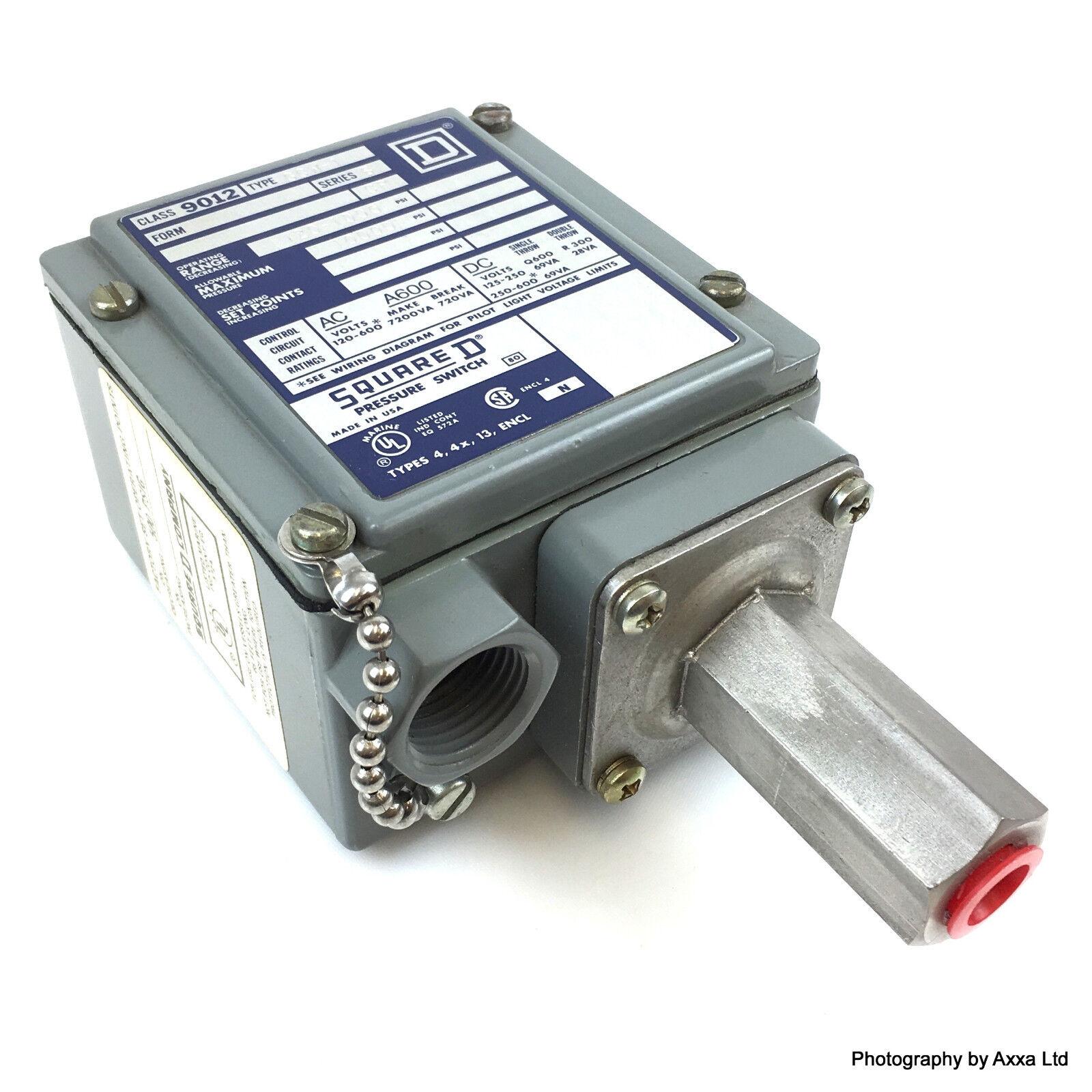 Pressure Switch 9012 Gcw 1 Square D 9012gcw1 Ebay