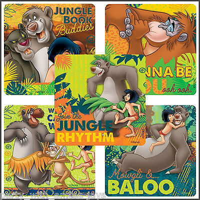 Jungle Birthday Ideas (Jungle Book Stickers - Classic Jungle Book Birthday Party Favours Loot Bag)