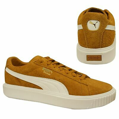 Puma Breaker Low Top Suede Brown White Lace Up Mens Trainers 366625 01 B39C